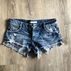 Zara Trafaluc Denim Makers Shorts Size 24
